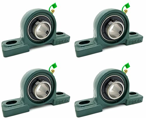 Four (4) UCP205-16 Cast Iron Pillow Block Mounted Bearings - 1
