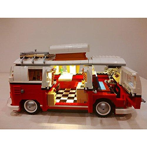 LED Lighting Set For Creator Series Volkswagen T1 Camper Van Model Compatible With Lego 10220 Building Blocks Toy (NOT Included The Model Set)