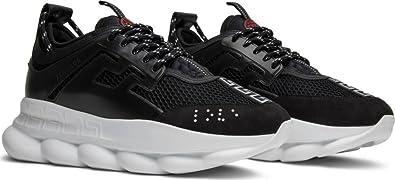 647ad6eaf6af3 Amazon.com: Versace Men's Chain Reaction Black Sneakers Size 9: Shoes