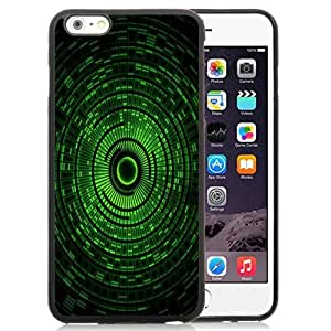 Beautiful Custom Designed Cover Case For iPhone 6 Plus 5.5 Inch With Green Abstract Circles Phone Case
