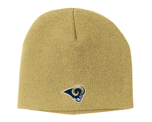 NFL Men's End Zone Uncuffed Knit Hat - K173Z (St. Louis Rams, One Size Fits All) ()
