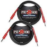 2-Pack Pig Hog PHSC5 8mm Tour Grade Speaker Cable, 5ft