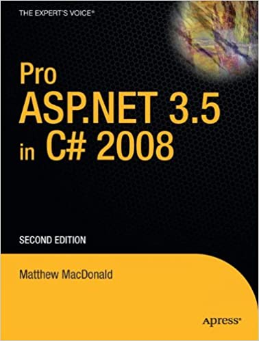 Pro ASPNET 35 In C 2008 Windows Amazonin Matthew MacDonald Books