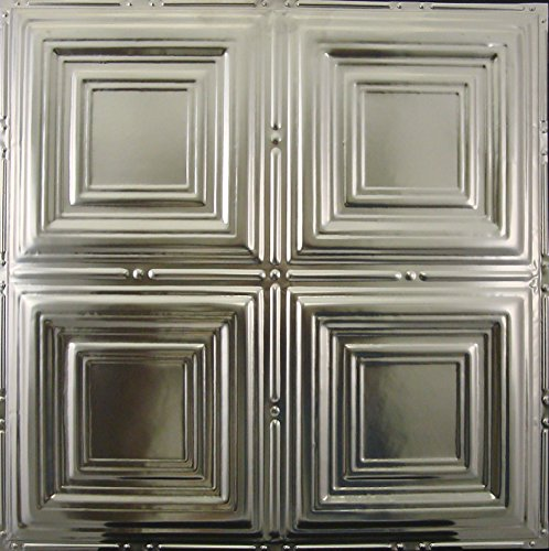 (Tin Ceiling Tiles #101, Unfinished Nail-up, Authentic Tin Tiles, 25 Tiles & Up = Free Shipping)