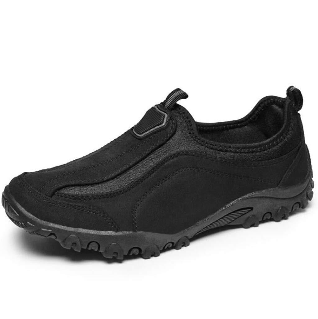 0a045bf5a3f96 Amazon.com: FGSJEJ Men's Hiking Shoes Breathable Non-Slip Leather ...