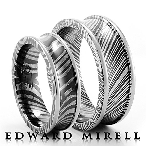Edward Mirell Titanium with Sterling Silver Inlay 7mm Wedding Band - Size 12.5 by Edward Mirell (Image #6)