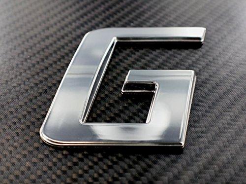 Sport Style Chrome & Flat Black Emblem Lettering (3