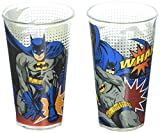 Zak Designs BATX-B080 Batman Comics Glass Tumbler 2 Piece Window box, 16 oz, Multicolor