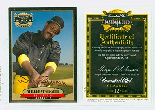 (Willie Stargell AUTOGRAPH d.01 Canadian Club Pittsburgh Pirates Certified As-Issued)