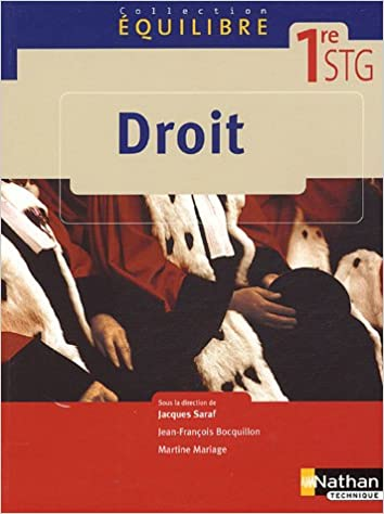 Ebook à télécharger gratuitement en pdf Droit 1e STG 2091795909 by Jacques Saraf,Jean-François Bocquillon CHM