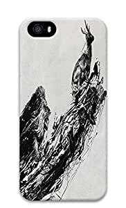 Cool Abstract Painting Time Is Running Out Custom Slim 3D Case For Ipod Touch 5 Cover