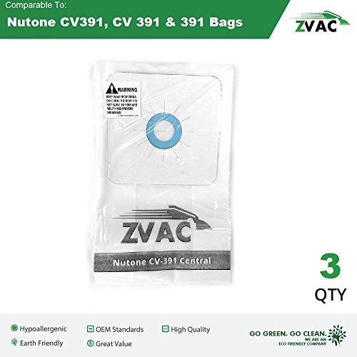 Nutone 391 Central Vacuum Bags - 6