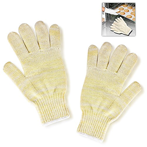 Flexzion Oven Glove BBQ Mitt Hot Heat Resistant Proof Surface Handler Portective Flexible Kitchen Tool for Fireplace Barbecue Baking Cooking Microwaving Camping