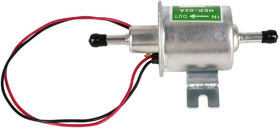 RONSHIN 12-24V HEP-02A Bomba de Combustible electr/ónica Universal para Motocicleta Golden Silver Plata 24V