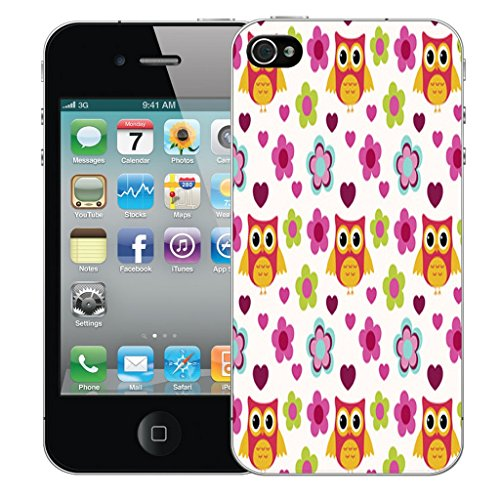 Mobile Case Mate iPhone 5c Silicone Coque couverture case cover Pare-chocs + STYLET - Floral Owls pattern (SILICON)