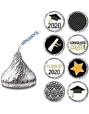 Adorebynat Party Decorations - EU Clase de graduación de la Etiqueta de 2020 para los Chocolates Hershey's Kisses® (Favor de la Etiqueta engomada del Caramelo) Set de 240
