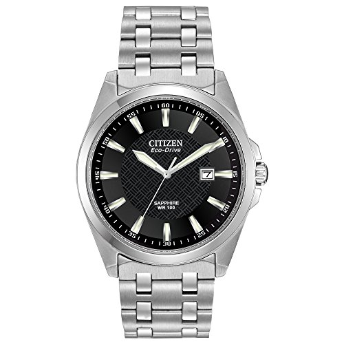 - Citizen Men's Eco-Drive Stainless Steel Dress Watch with Date, BM7100-59E