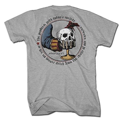 1776 United Skull Chalice T Shirt product image