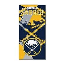 "Northwest NHL Buffalo Sabres ""Puzzle"" 34""x72"" Navy Blue Beach Towel"