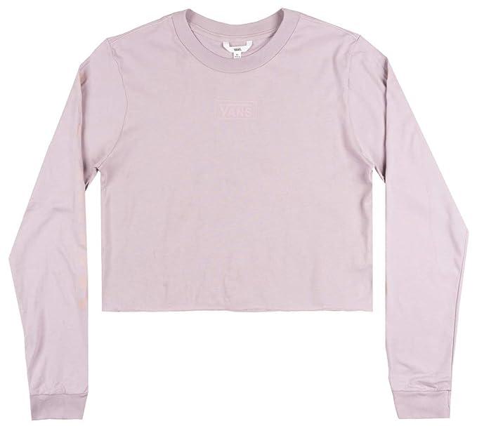 6fc4cf3e97fc7e Amazon.com  Vans Off The Wall OTW Classic Crop TOP LS Shirt Womens ...