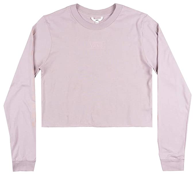 0472131b7b2 Vans Off The Wall OTW Classic Crop TOP LS Shirt Womens Skate Boyfriend FIT  XL White