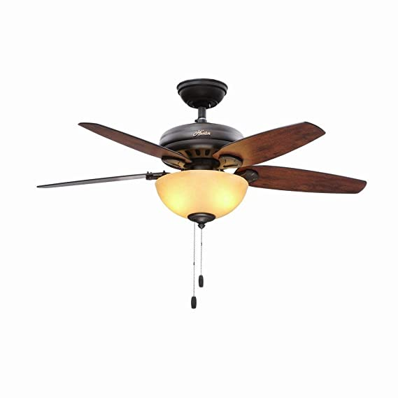 Com Hunter Stratford 44 In Indoor New Bronze Ceiling Fan Home Kitchen