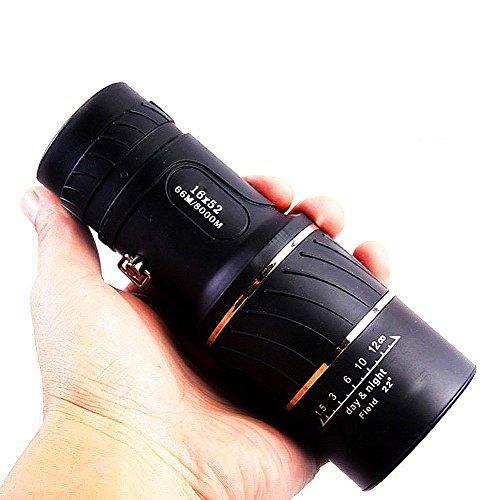 Cheapest Prices! Monocular Telescope, 16X52 Dual Focus, Prism Film Optics,Waterproof, Low Night Visi...