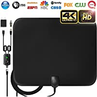 HD Digital TV Antenna 【2018 Upgraded】 Amplified HD Digital TV Antenna Long 60-80 Miles Range Support 4K 1080p & All Older TVs Indoor Powerful HD TV Amplifier Signal Booster - 16ft Cable