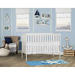 Dream on Me Synergy 5-in-1 convertible crib adds a touch of color to any nursery, the lean modern design adds a contemporary style which fits any décor from you baby nursery to your growing child's bedroom. Dream On Me Synergy 5-in-1 converti...