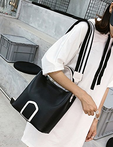 Top Bag Black ZCM for Cross Leather High Quality Multifunction 3 Optional Tote Beach Casual Fashion Color Cute Clutch Bags Womens Handle Travel Body B7AqwxB0