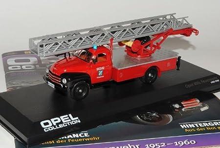 Ixo Opel Blitz Feuerwehr 1952-1960 Inkl Zeitschrift Sonderausgabe 1//43 Modell Auto mit individiuellem Wunschkennzeichen
