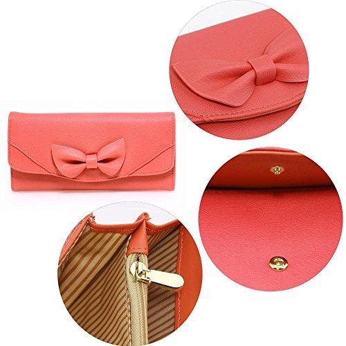 Frauen Trendstar Einem Der Querbinder Geldbeutel Damen Kunstleder Coin Geldtaschen Kreditkarteninhaber Mädchen Rojo - rojo