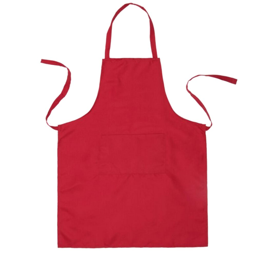 BESTONZON Schü rze mit 2 Taschen Wasserdicht fü r Mä nner und Frauen (Rot) 60 * 70cm