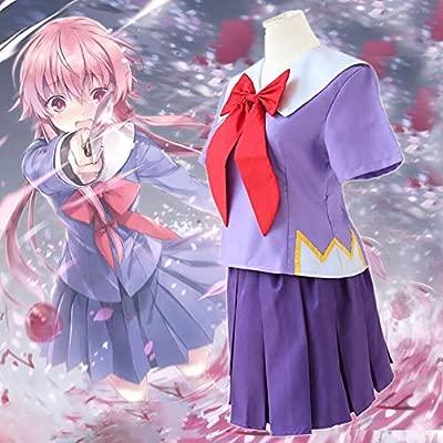 ULLAA Mirai Nikki Gasai Yuno Anime Cosplay Uniformes Traje De ...