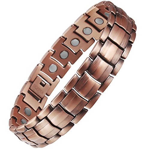 VITEROU Mens Magnetic Pure Copper Bracel - Make Metal Bracelets Shopping Results