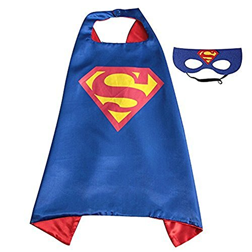 Superhero Capes,XCT Halloween Party Children Cosplay Comics Cartoon Dress Up Costume Satin Cape with Felt Mask (Super Simple Costumes)
