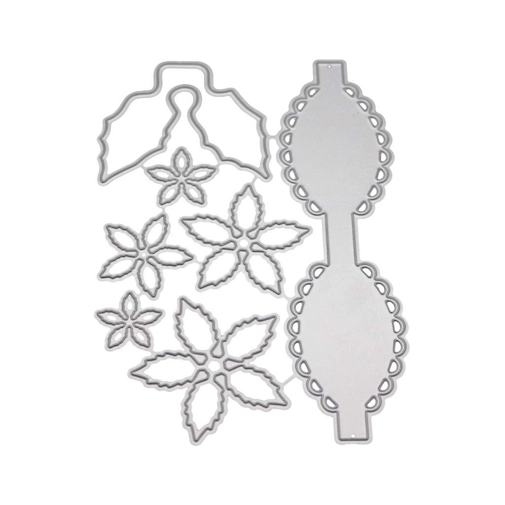 Bogen Blume Metall Stanzformen Schablone DIY Scrapbooking Album Stempel Papier Karte Pr/äge Craft Decor