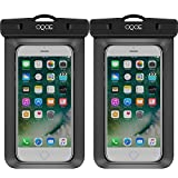 2 [Universal] Waterproof Cases by OQOE Cell Phone Dry Bag Pouch for iPhone 6S 6,6S Plus,7 SE 5S, Galaxy S7, S6 Note 5 4, HTC LG Sony Nokia Motorola up to 6.0