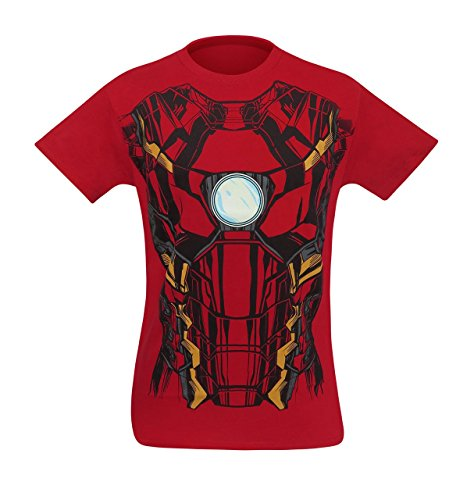 SuperHeroStuff Iron Man Suit-Up Men's Costume T-Shirt- Medium
