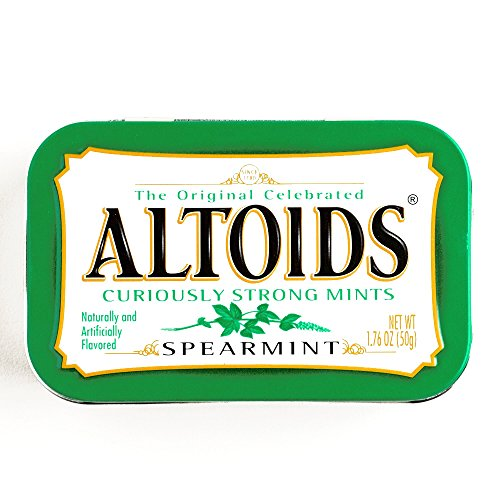 Spearmint Altoids 1.76 oz each (3 Items Per - Altoids Candy Mint