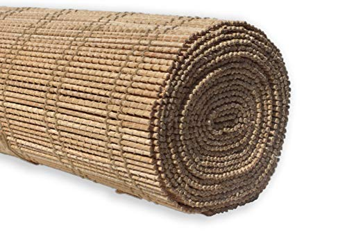 Throw Woven Bamboo (Bamboo Table Runner: 100% Natural Hand Woven Decorative Cover for Dinner and Coffee Table, Eco- Friendly Sustainable Materials, Elegant Style, Wooden Rustic Design (Hatana, 14x72))