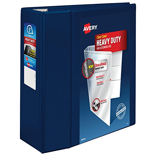 Avery Heavy-Duty Reference View Binder with 5-Inch One Touch