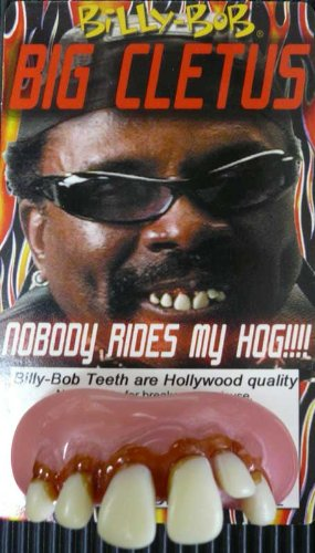 Costumes Fake Teeth (Billy Bob Teeth Big Cletus Snaggle Biker Teeth)