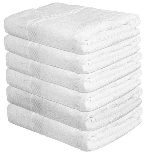22x44 Towels: Bath Towel 6-Piece Pack Set 22x44 Inch Soft Absorbent