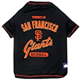 MLB SAN FRANCISCO GIANTS Dog T-Shirt, Small. - Licensed Shirt for Pets Team Colored with Team Logos