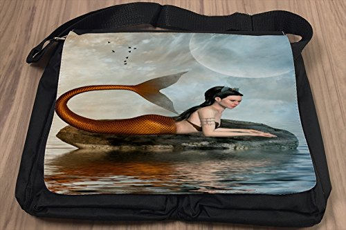 Borsa Tracolla Fantasy Sirena roccia Stampato