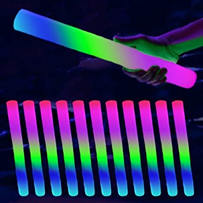 "16"" LED Foam Batons 6-Mode: Multicolor (12-Pack)"