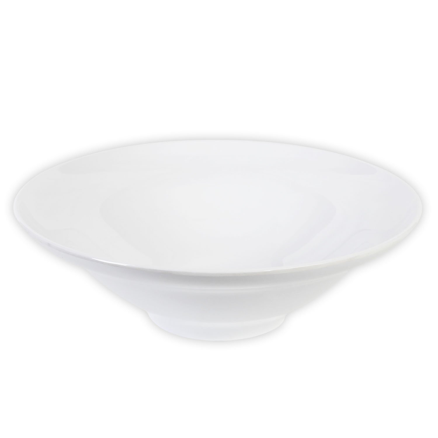 Excellante Royal White Collection 13 by 13-Inch Salad Bowl, 4.125-Inch Deep, 96-Ounce PS6013W