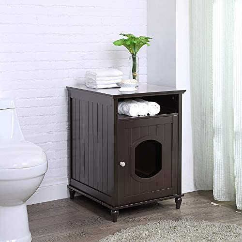 pet supplies, cats, litter, housebreaking,  litter box enclosures 11 image unipaws Designer Cat Washroom Storage Bench, Litter Box in USA