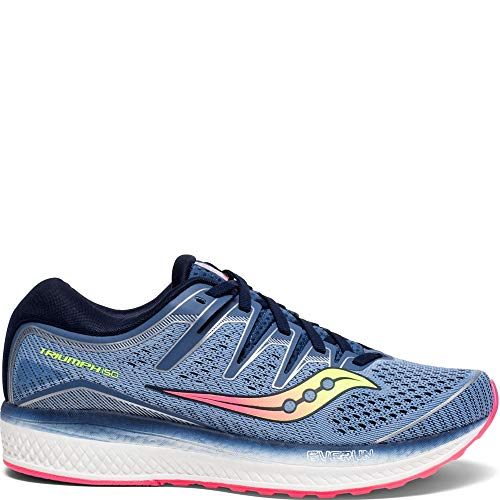 Saucony Women's Triumph ISO 5 Running Shoe, Blue/Navy, 8 M US